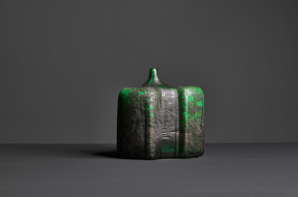 Risveglio del Verde,  2016 Murano Glass and Iron, 18 H x 16 W x 16 D cm
