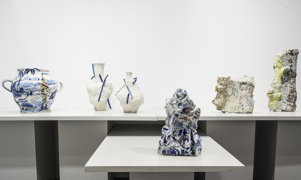 Work by [left to right] Philip Eglin, Johannes Nagel, Babs Haenen and Aneta Regel.