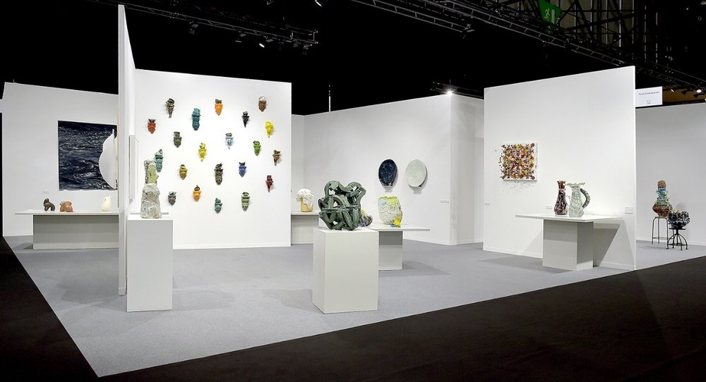 Group Exhibition at artgenéve 2018 featuring work by Heidi Bjørgan, Grant Aston, Aneta Regel, Marit Tingleff, Michael Brennand-Wood and Fredrik Nielsen.