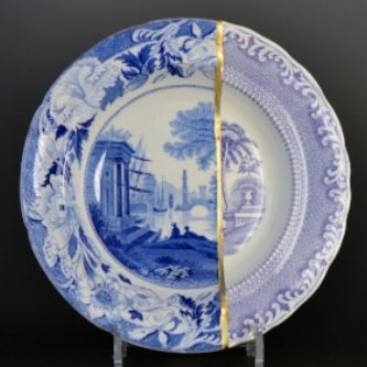 Scott's Cumbrian Blue[s], Wedgewood/Rörstrand Collage