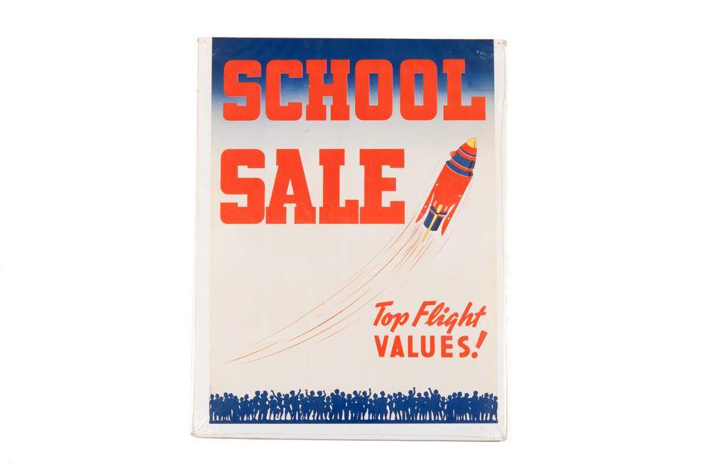 School Sale Advertising Poster – Buck Rogers (circa 1955)