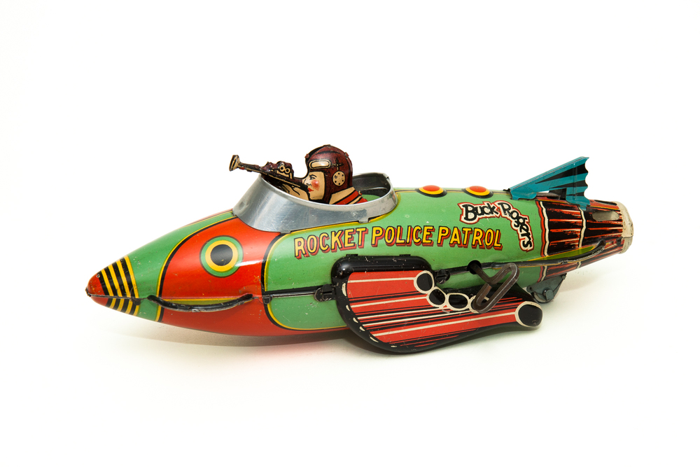 Toy Rocket Police Patrol (Wind-Up) – Buck Rogers (Marx 1939)