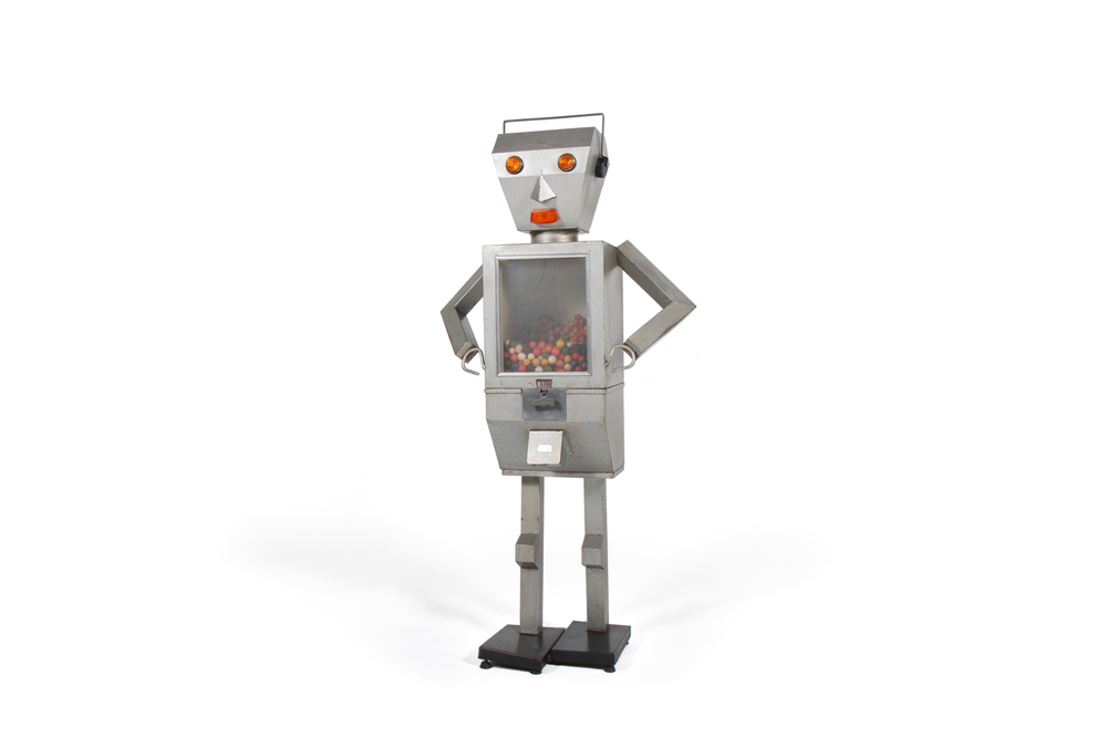 """Gumbo the Robot Gum Dispenser"" (Italy circa 1965) - Height 4' 7"""
