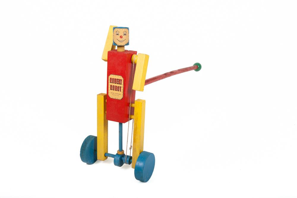 "Toy Robot – ""Robert Robot"" – Wood (American circa 1970)"
