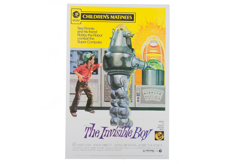 Movie Poster – The Invisible Boy with Robbie the Robot (1973 Reissue)