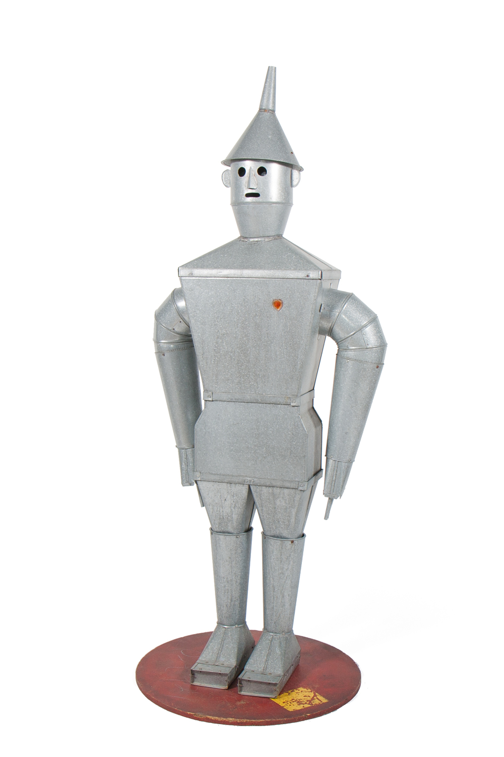 "Promotional Robot / Tin Man from Heating Ducts – signed by artisan ""D. Still"" (American – number next to artisan's signature suggests a date of 1947, but probably made later) - Height 6'6"""