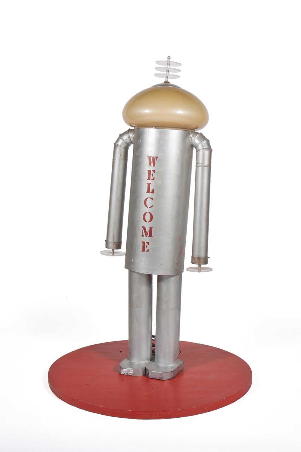 "Homemade Promotional Display Robot – ""Welcome"" (circa 1975) - Height 5'6"""