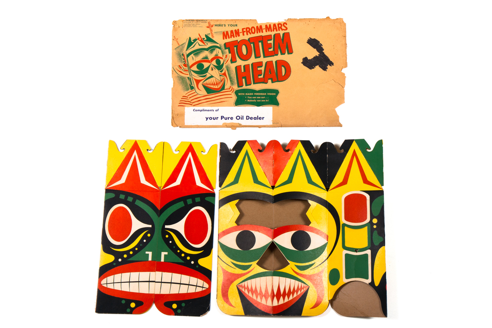 "Premium: Man-From-Mars ""Totem Head"" with Mailing Envelope (Space Patrol circa 1953)"