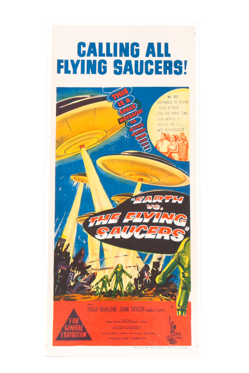 "Movie Poster – ""Earth vs. The Flying Saucers"" (1956)"