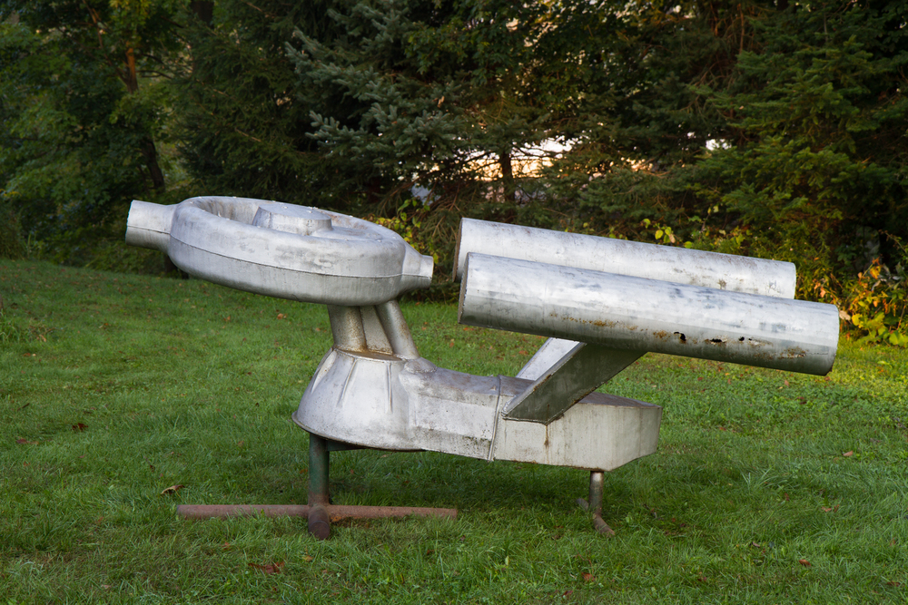 Starship Enterprise fabricated from scrap boiler parts (from Stowe, Vermont circa 1983) - Length 10'0""