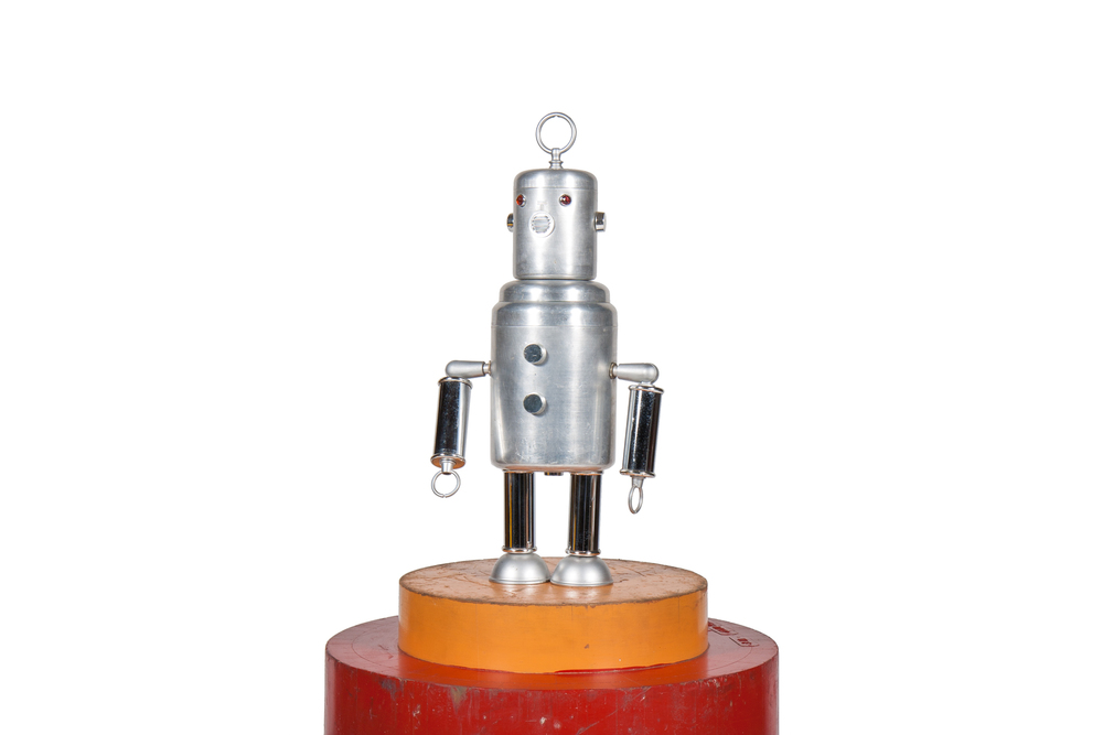 Department Store Display Robot from Kitchenware Parts (circa 1965)