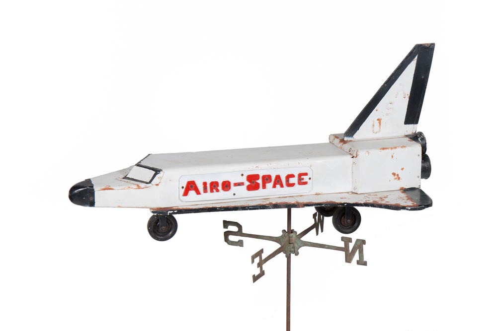 "Weathervane – ""Airo-Space"" Space Shuttle (from Susquehanna, Pennsylvania circa 1983) - Length 4'1"""