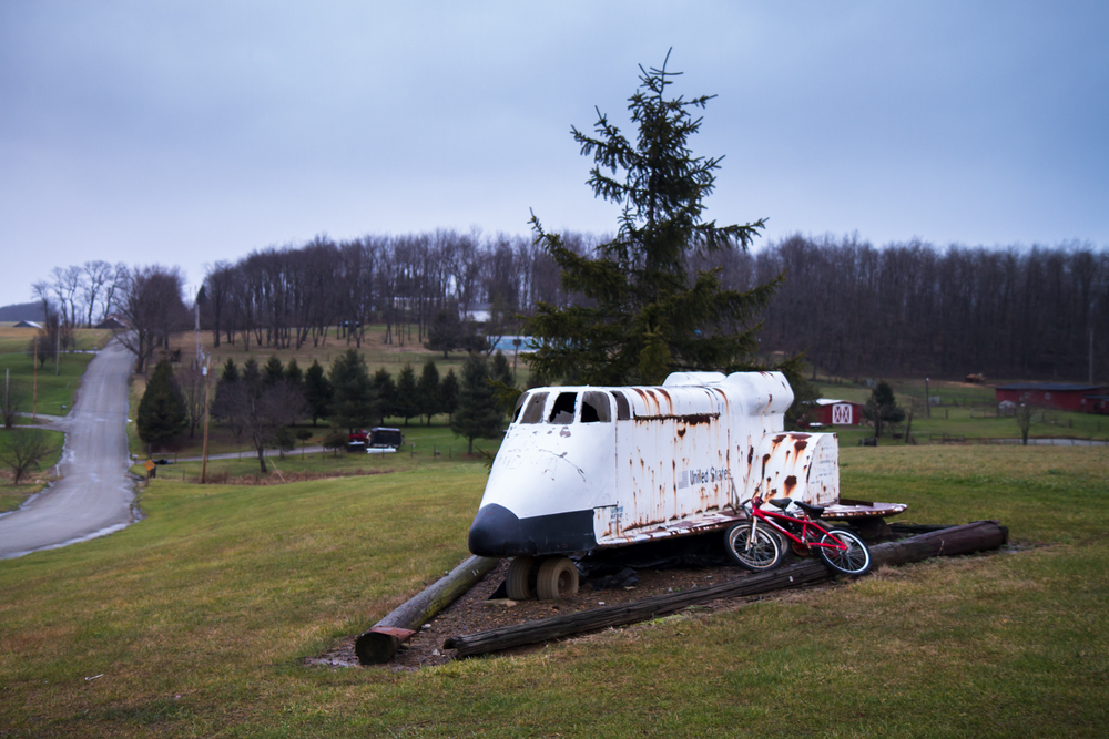 Folk Art Space Shuttle Tractor (Pennsylvania) - Photo by Peter Kleeman 2011