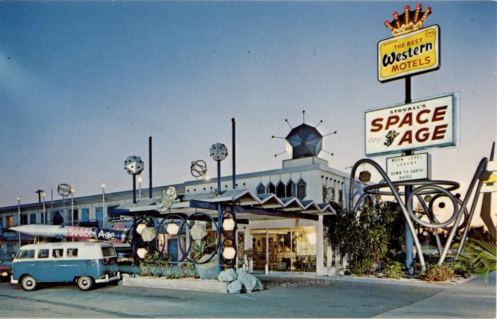 Space Age Lodge (Anaheim, CA, Postcard circa 1960)