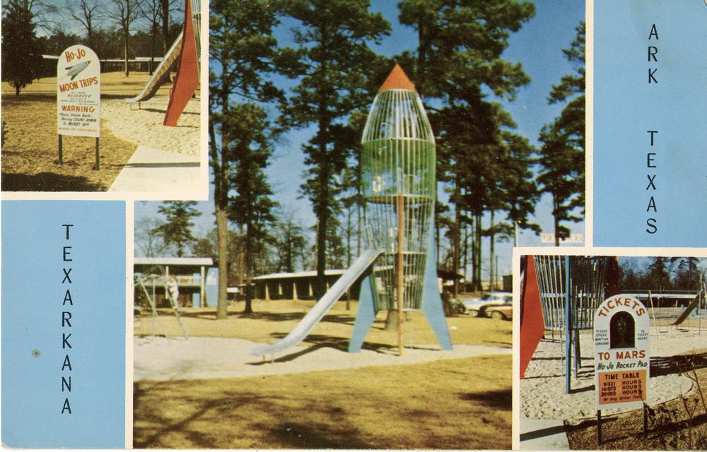"""Playground Rocket - Howard Johnson """"Tickets to Mars"""" (Texarkana, TX circa 1962)"""