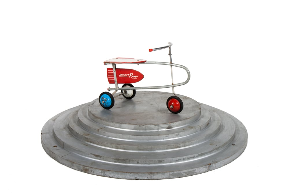 "Tricycle ""Rocket Rider"" (Teterbabe circa 1950) - Length 2'0"""