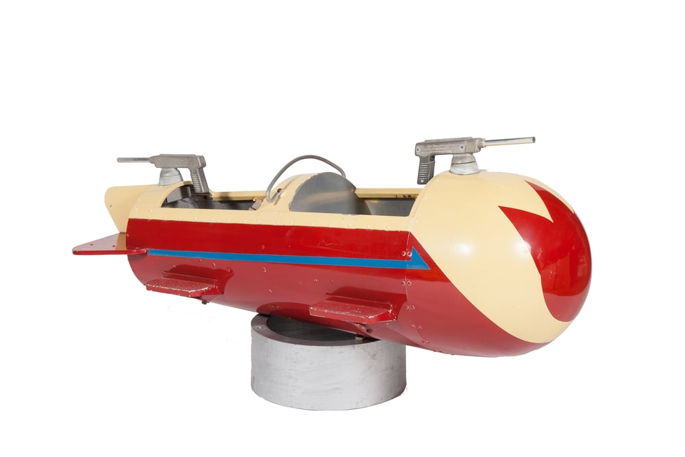 Rocket Amusement Ride – Skyfighter (Allan Herschell, from Atlantic Beach Park, RI 1951) - Length 6'0""