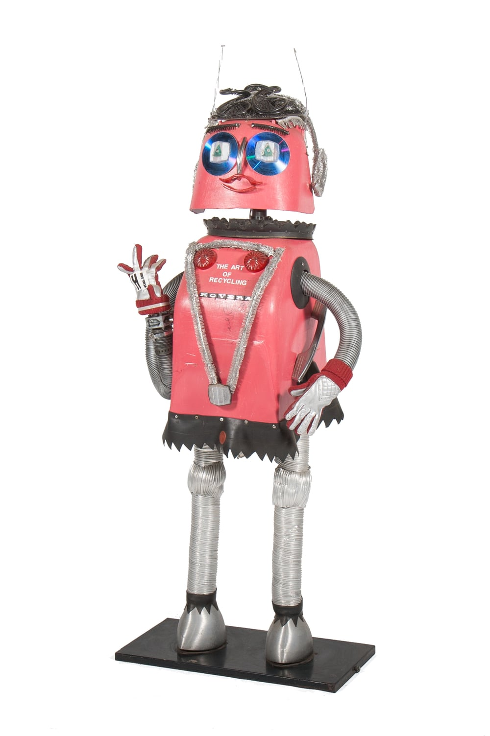 "Robot ""Hoovera"" signed by outsider artist DeVon Smith (circa 1999)"