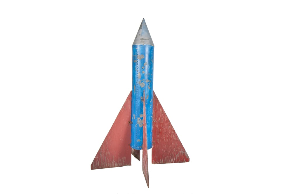 Miniature Golf Hazard Rocket (from Farmington, Maine circa 1950) - Height 7'2""