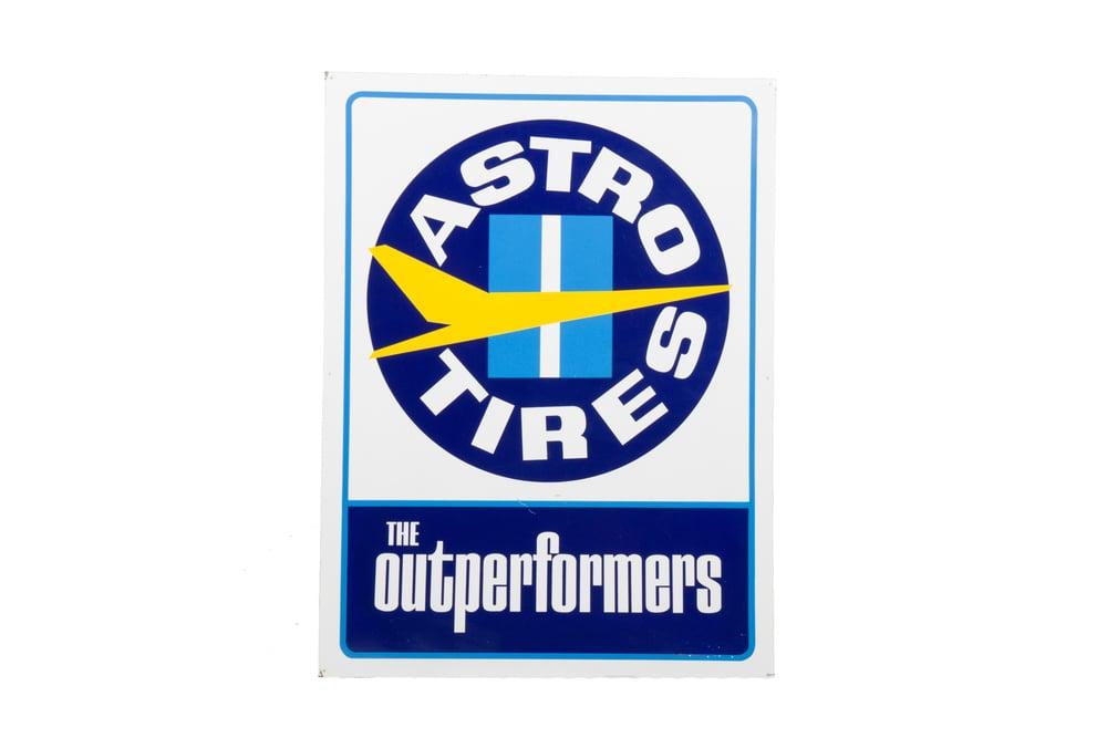 """Metal Sign - """"Astro Tires"""" (circa 1965) 3'0"""" x 4'0"""""""