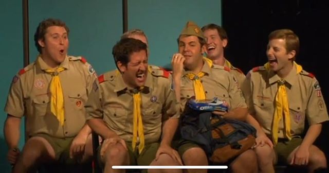 TBT to Tiny Fascists: A Boy Scout Musical, a musical I did at the Annoyance a long time ago that was really one of the most important shows for me.  First time working at #theannoyance and made a lot of amazing friends.  #tbt #nedfulmer #musicaltheatre