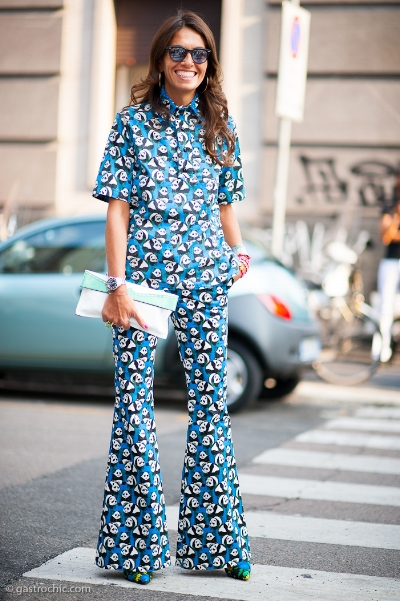 Much like those who score low on neuroticism, Italian fashion editor Viviana Volpicella loves prints. Source: gastrochic.com