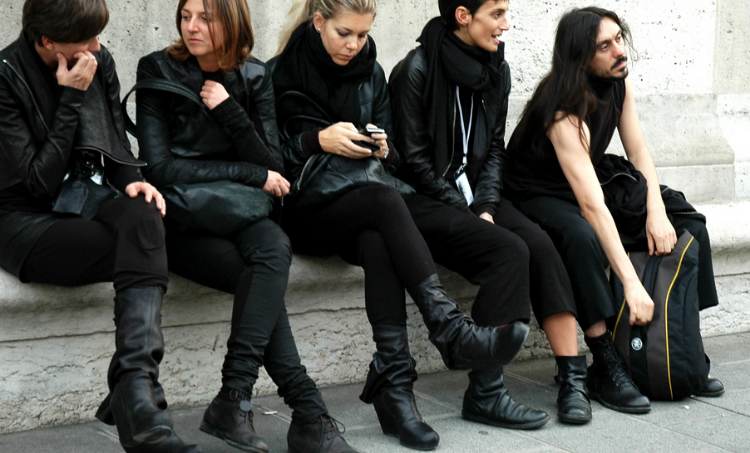 American Paris-based designer Rick Owens, who is positioned in the avant-garde realm, has a cult following.