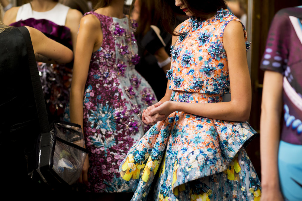 Mary Katrantzou's digital techniques were part of prints' revolution. Pictured: SS14