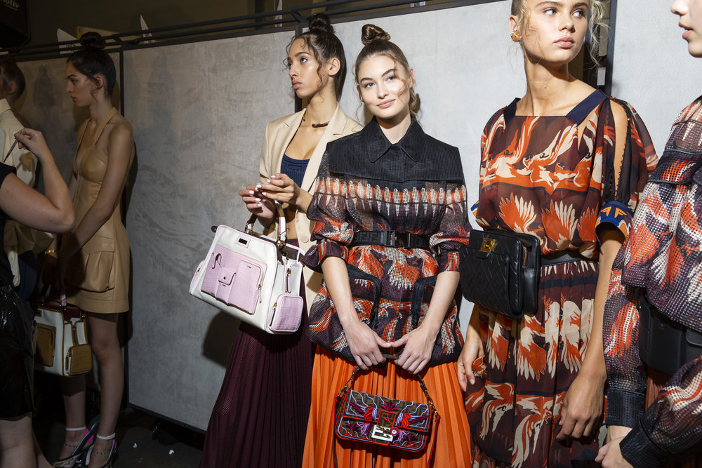 Backstage at Fendi SS19 (Photo: theimpression.com)