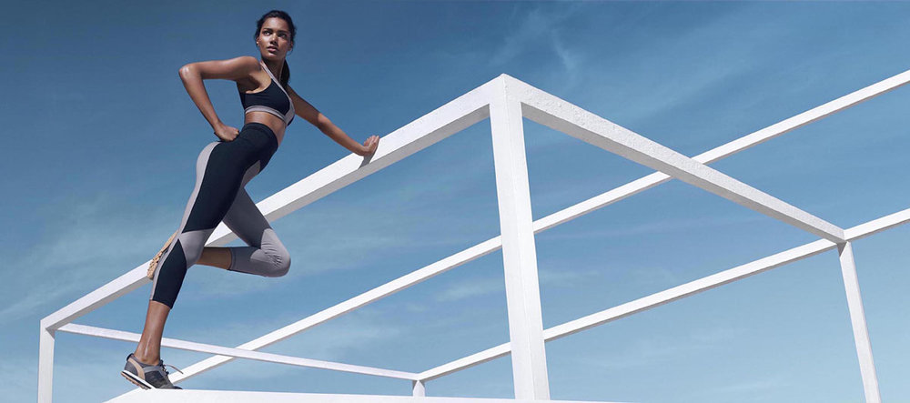An activewear campaign from Los Angeles-based brand Koral.