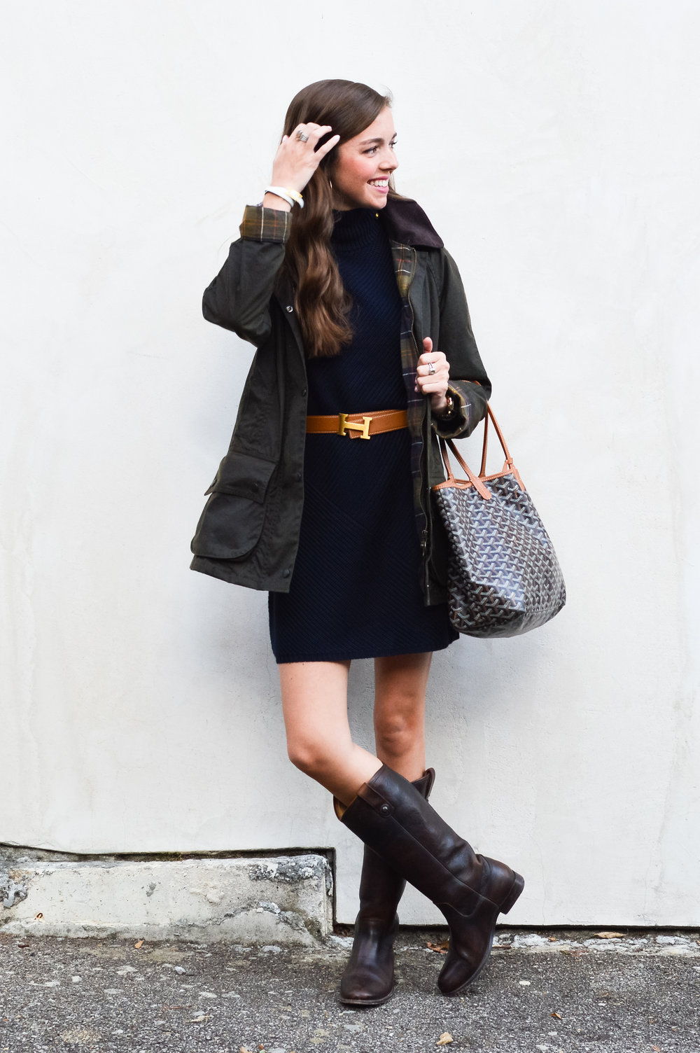 fashion blogger lcb style tory burch sweater dress frye boots barbour beadnell jacket  (9 of 43).jpg