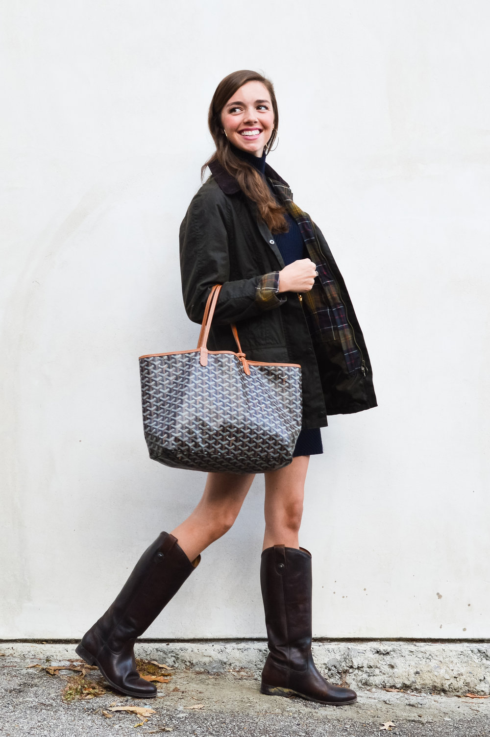 fashion blogger lcb style tory burch sweater dress frye boots barbour beadnell jacket  (22 of 43).jpg