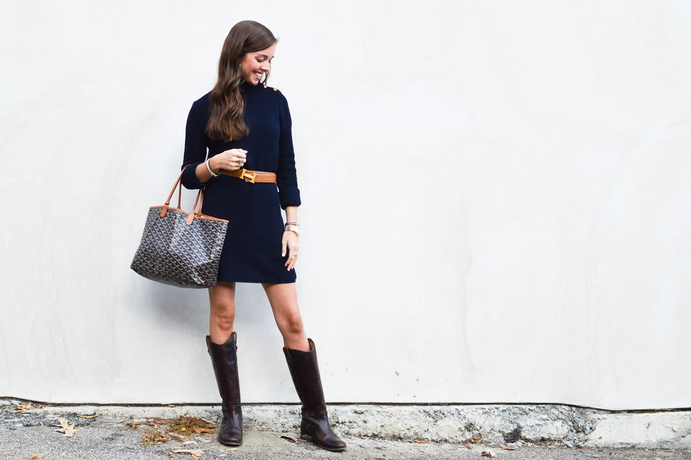 fashion blogger lcb style tory burch sweater dress frye boots barbour beadnell jacket  (27 of 43).jpg