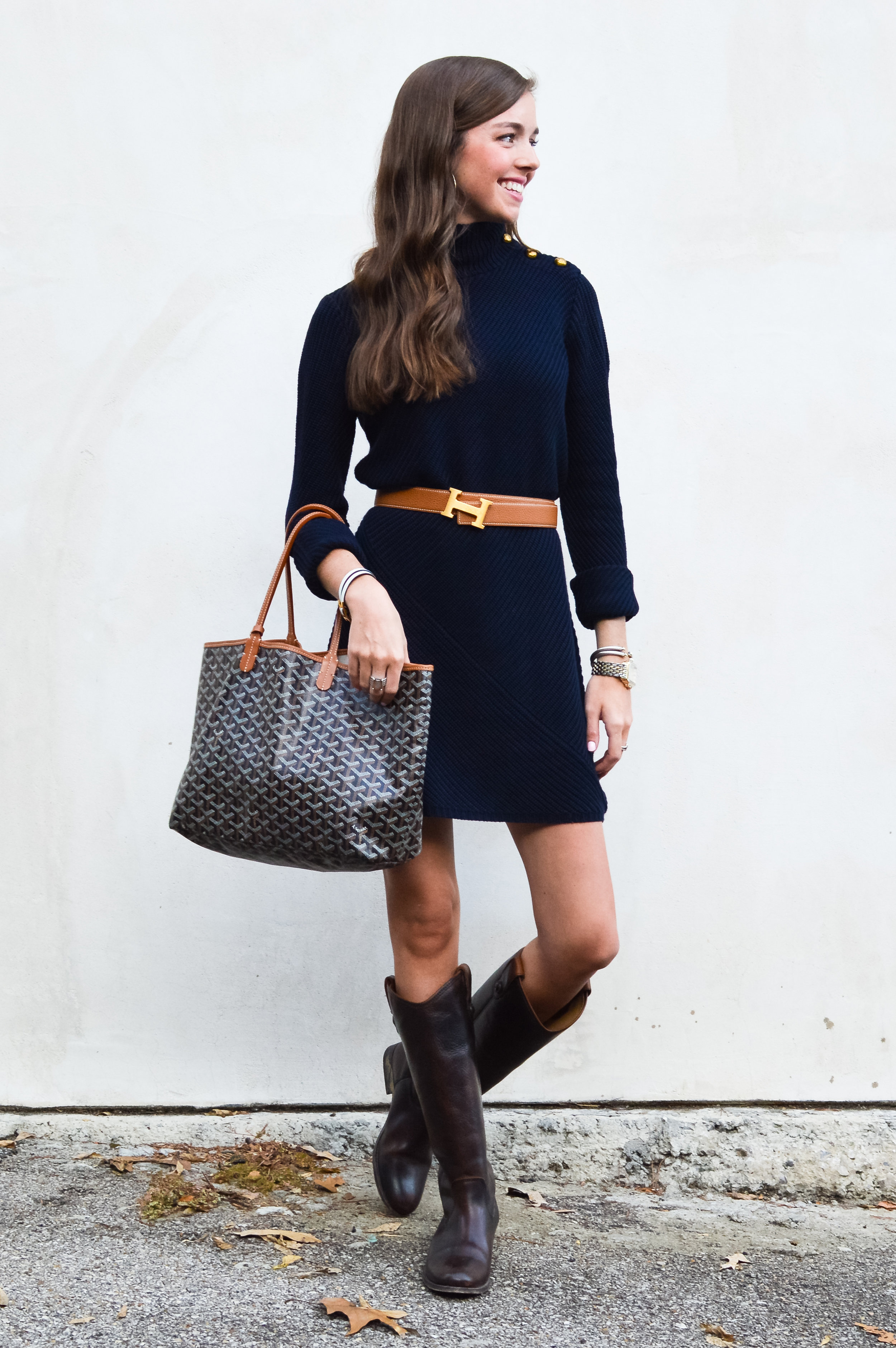 26b798987 fashion blogger lcb style tory burch sweater dress frye boots barbour  beadnell jacket (33 of