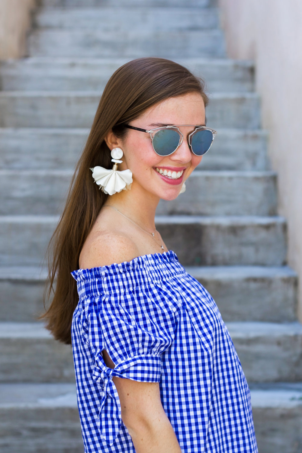 GO-TO GINGHAM TOP  -