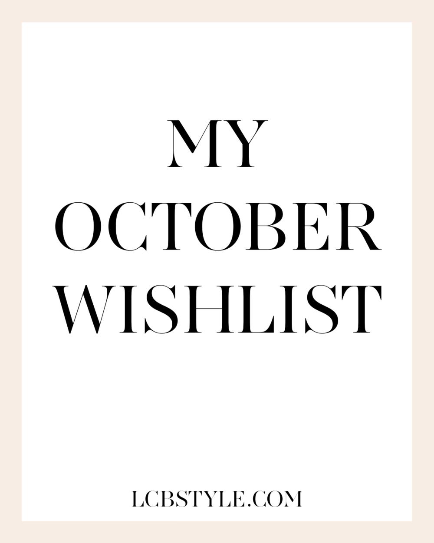 LCB OCTOBER WISHLIST