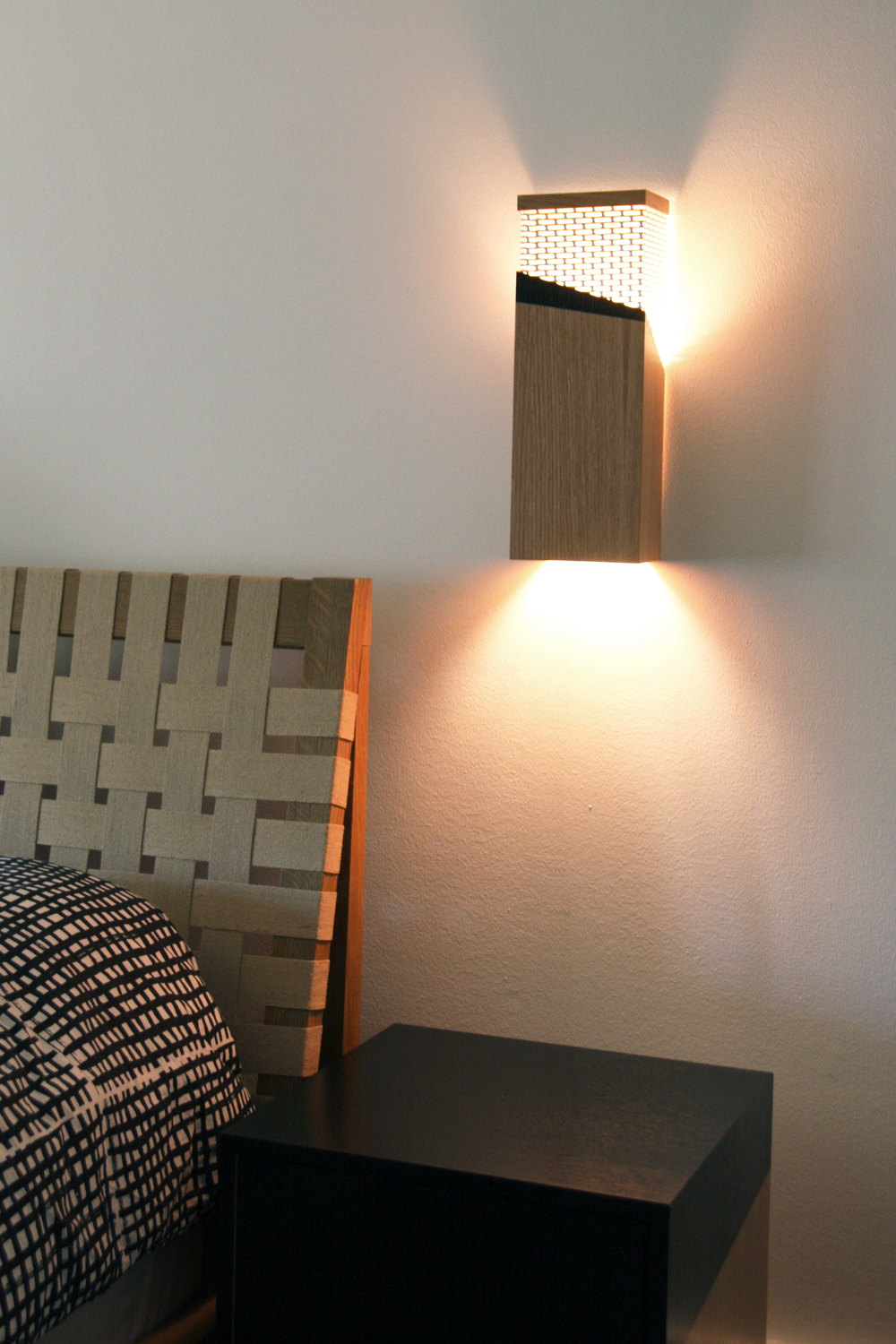 White Oak Tall Sconce