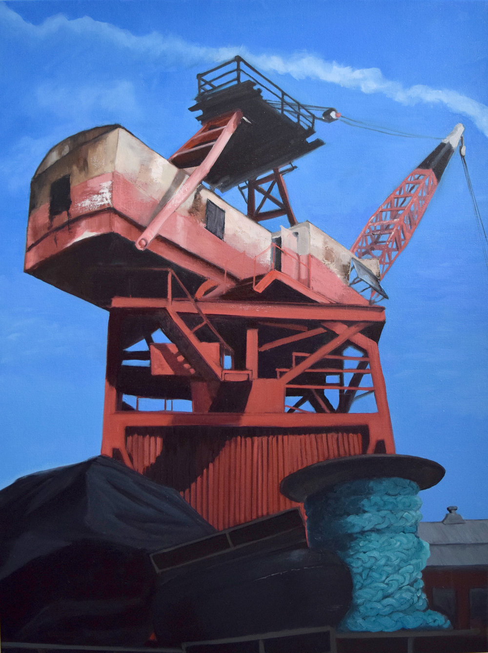 Pretty Industrial  -   I have a show, Pretty Industrial opening/artist reception November 5th, 5-7pm at the Sweet Lorraine Gallery, located in Ti Art Studios, 183 Lorraine St, Brooklyn, NY. I'll be adding to my Gowanus portfolio, and showing more cranes, which I was fortunate to paint this summer thanks to the Brooklyn Navy Yard's artist in residence program. The show will be up for the month of November and available to see by appointment after the opening.