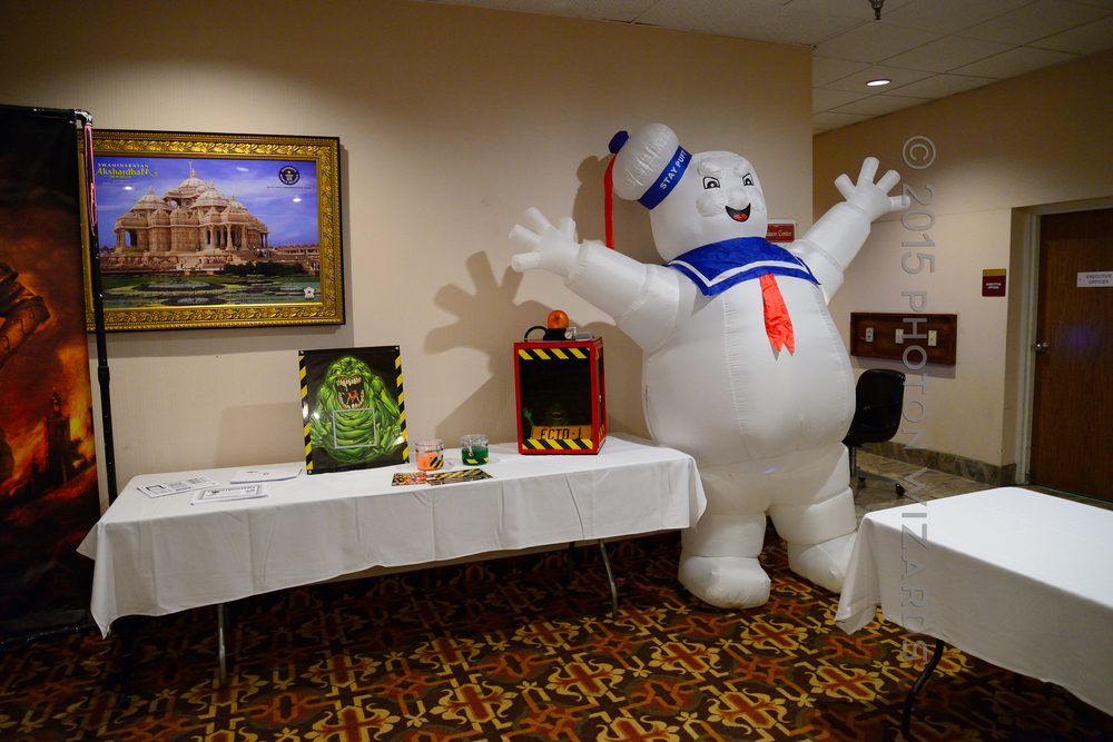The Stay Puft Marshmallow Man (not to scale)