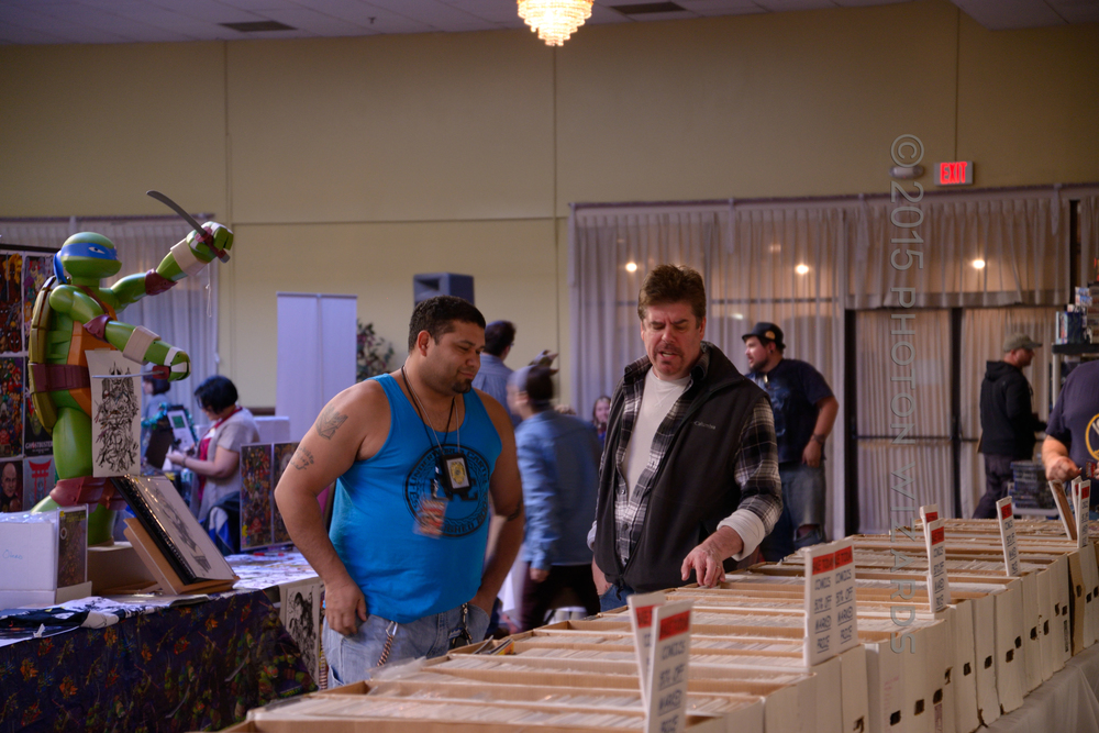 Mike Zapcic Perusing Some Longboxes