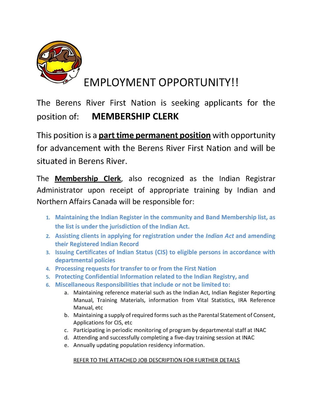 EMPLOYMENT OPPORTUNITY Membership Clerk_Page_1.jpg