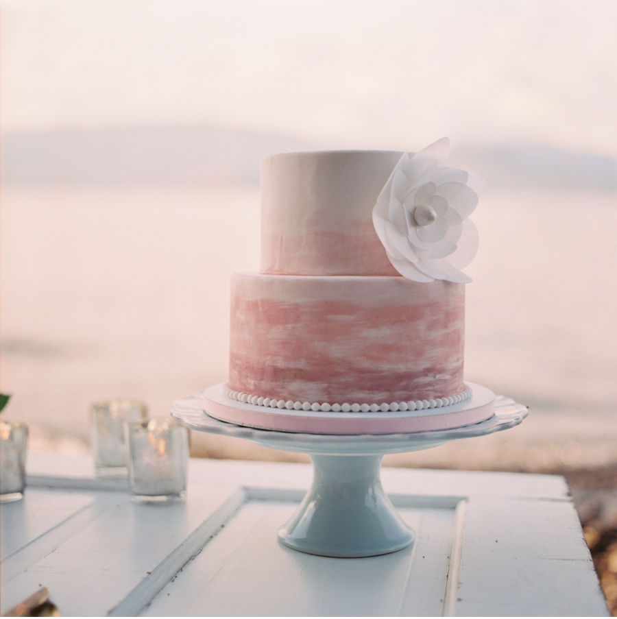Watercolour Cake at Dusk