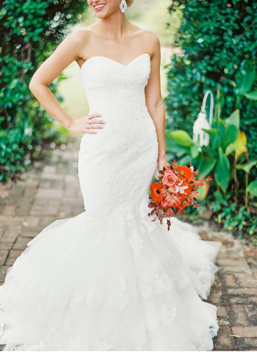 Bride in Mermaid Style Gown