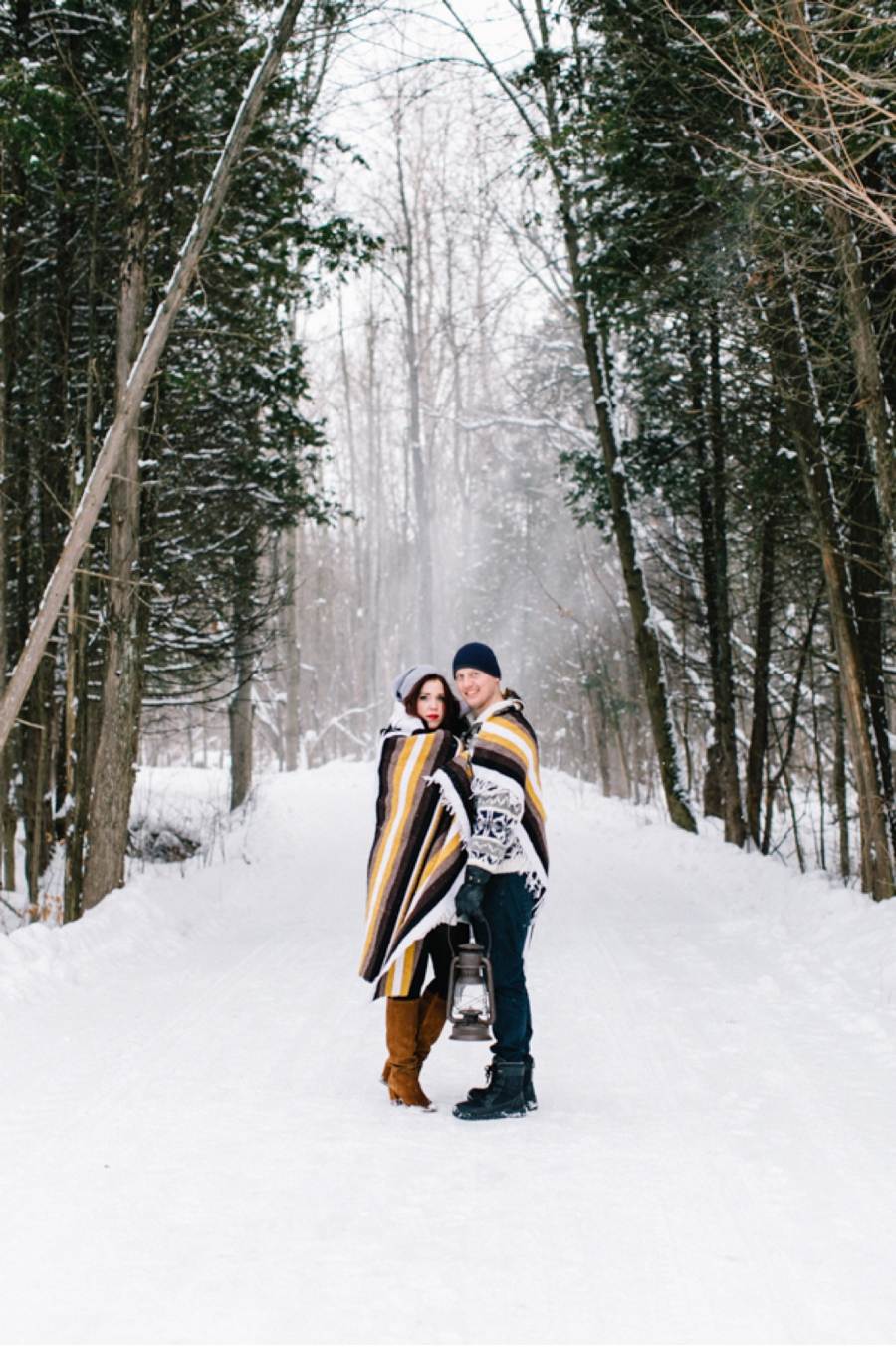 Snowy-Woodland-Engagement-Shoot