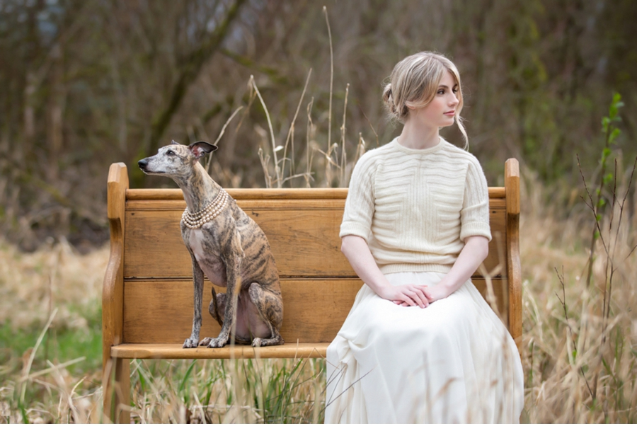 Bride-sitting-with-whippet