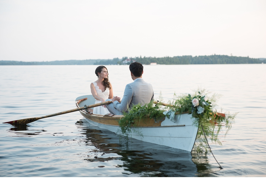Bride-and-Groom-in-Canoe