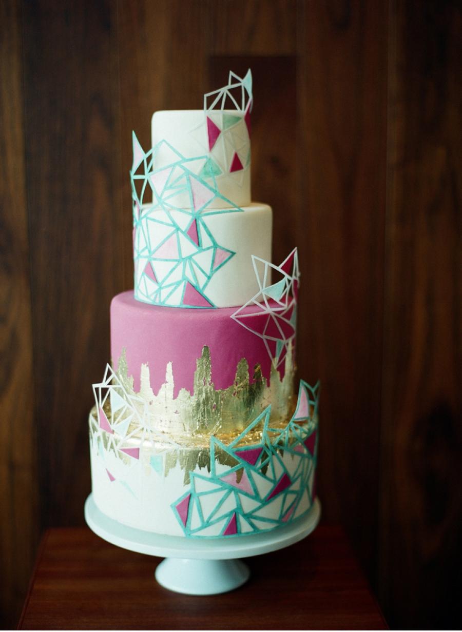 Vibrant-Geometric-Cake