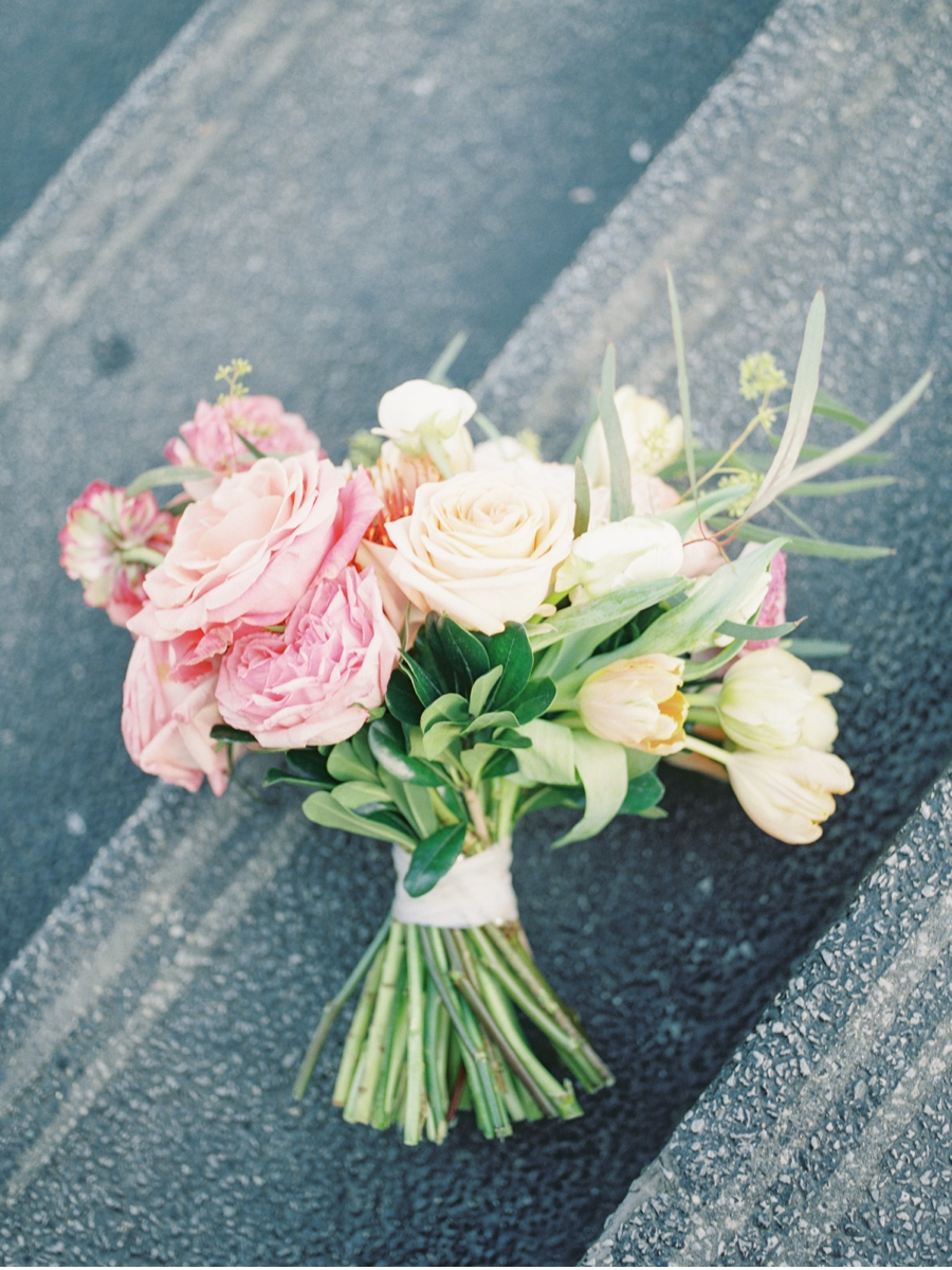 Pink-and-Yellow-Bridal-Bouquet