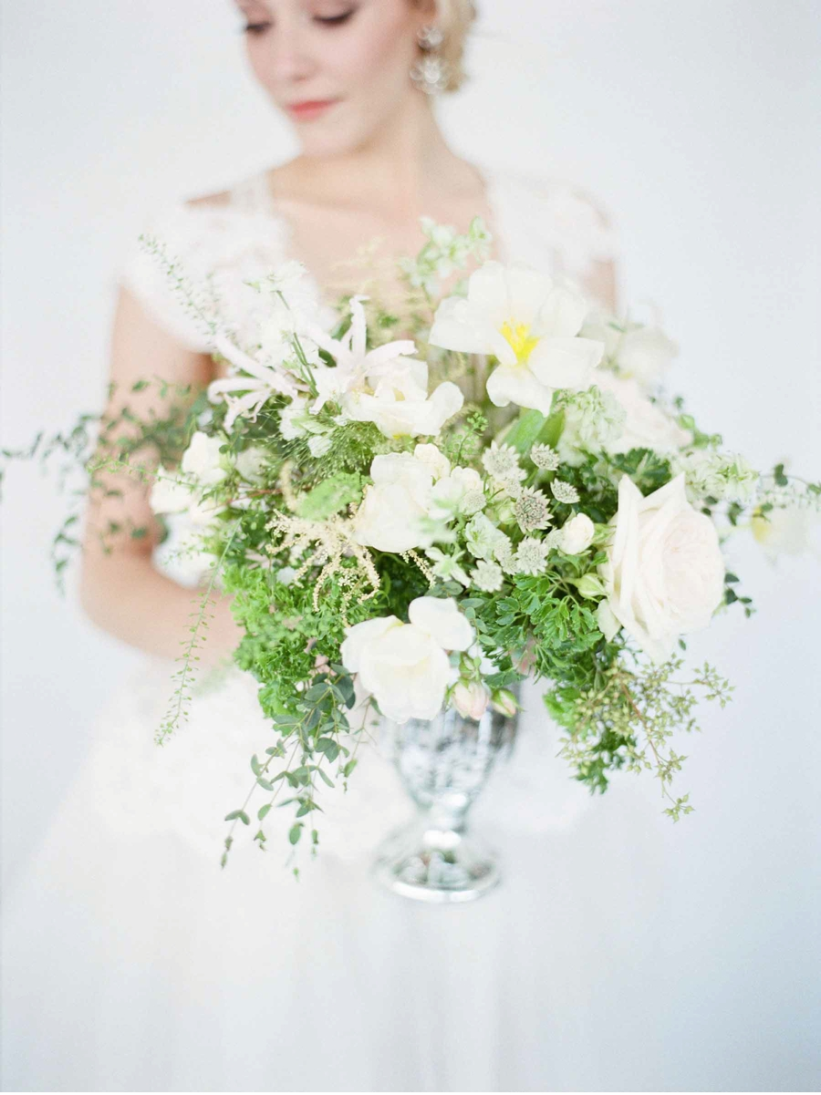 White-and-Green-Reception-Centerpiece