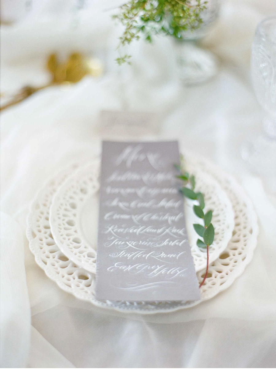 Grey-Dinner-Menu-Calligraphy